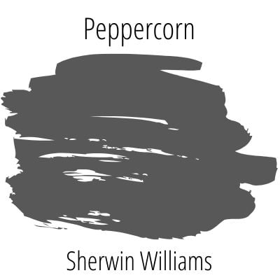 Peppercorn paint on a white background