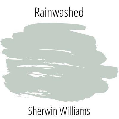 Rainwashed paint swatch on white background