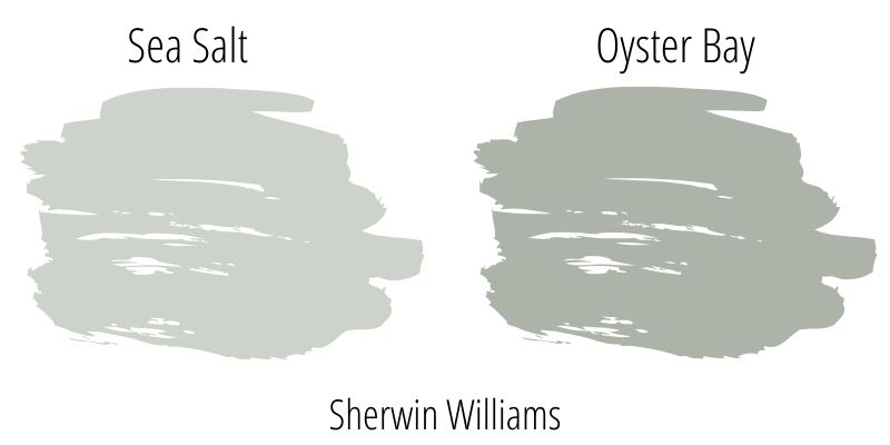 Sherwin Williams Sea Salt versus Sherwin Williams Oyster Bay