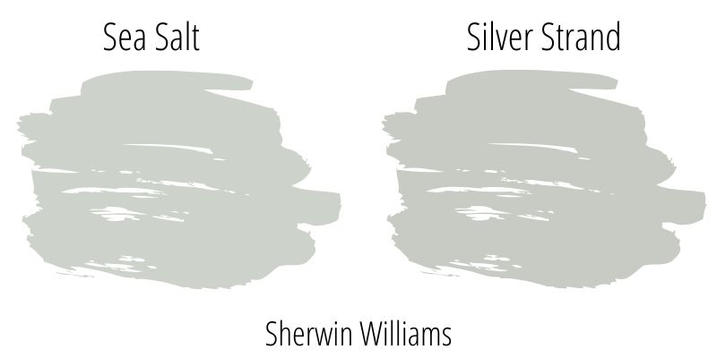 Sherwin Williams Sea Salt versus Sherwin Williams Silver Strand