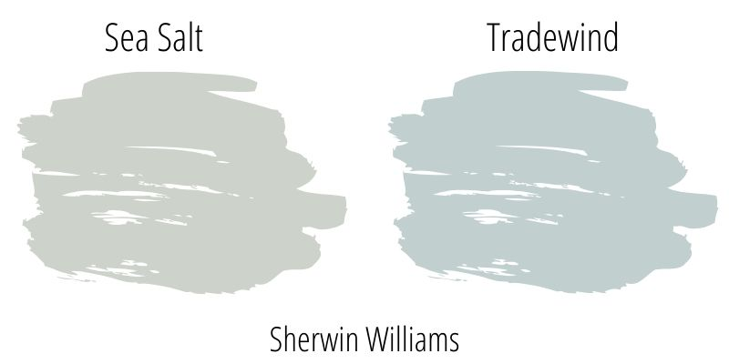 Sherwin Williams Sea Salt versus Sherwin Williams Tradewind