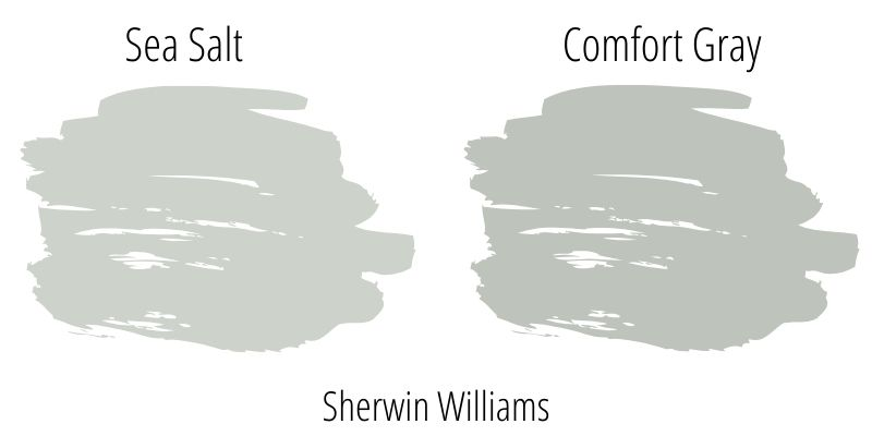 Sherwin Williams Sea Salt vs. Comfort Gray