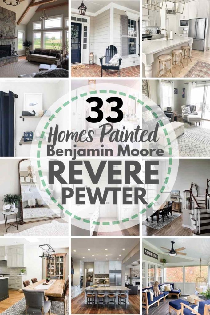 33 Homes Painted in Benjamin Moore Revere Pewter