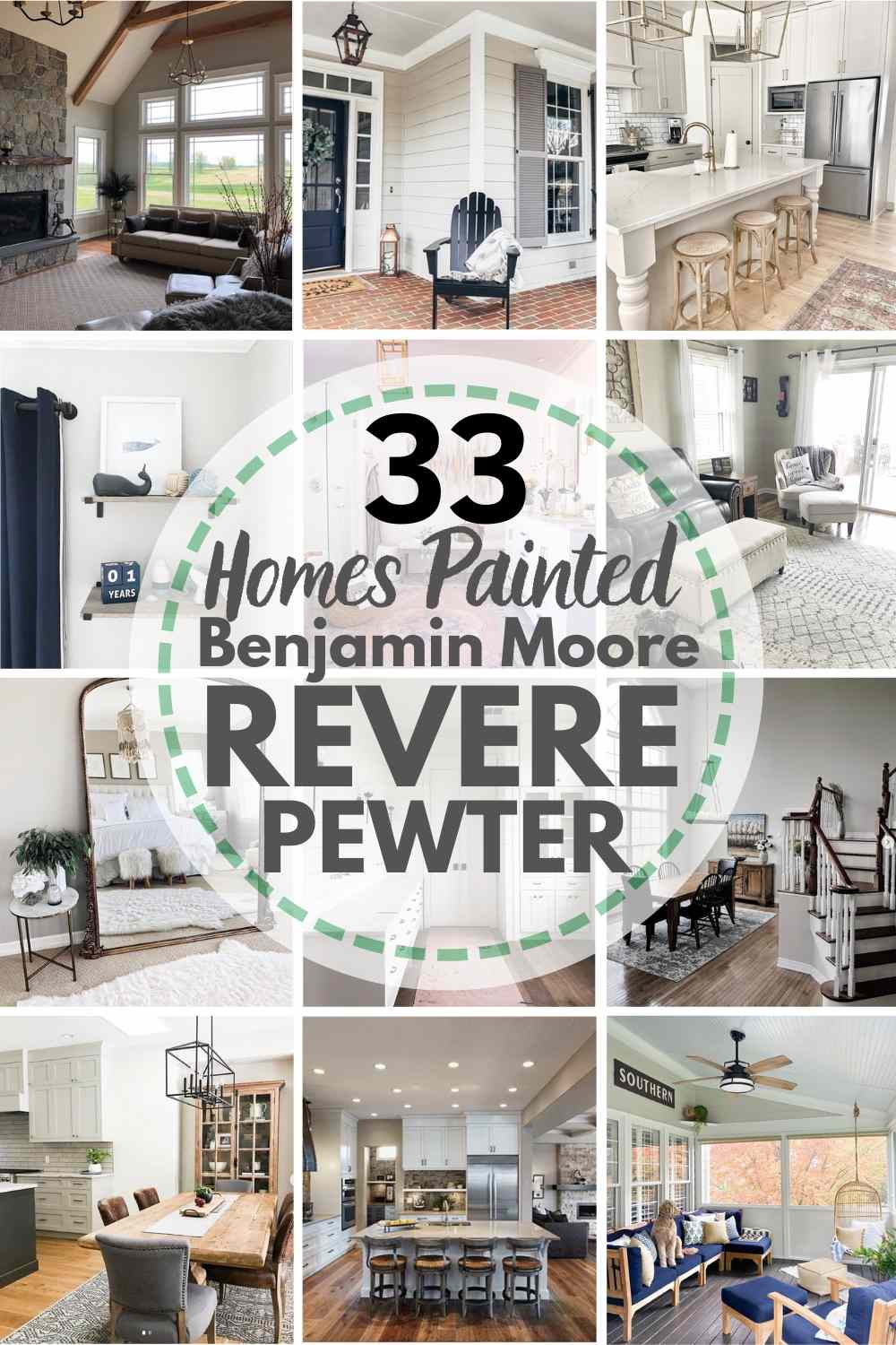 33 Homes Painted in Benjamin Moore Revere Pewter