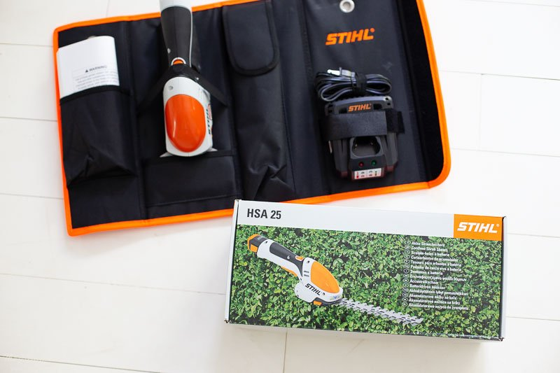 STIHL GTA-26 battery powered pruning tool out of box in packaging next to box