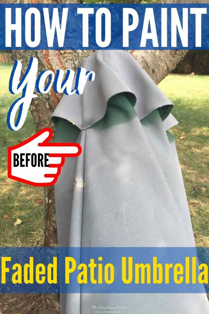 Don't throw it out! Throw it some paint! Did you know you can revive your faded patio umbrella with paint?! YES. YOU CAN!