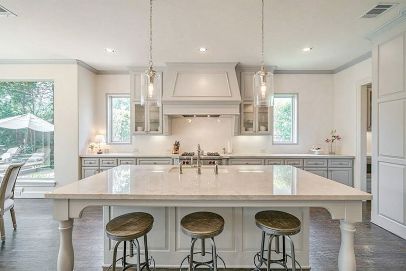 Kitchen with Mindful Gray cabinets