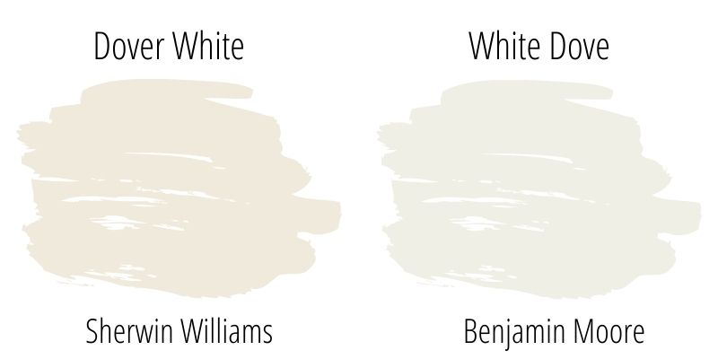 Sherwin Williams Dover White versus Benjamin Moore White Dove