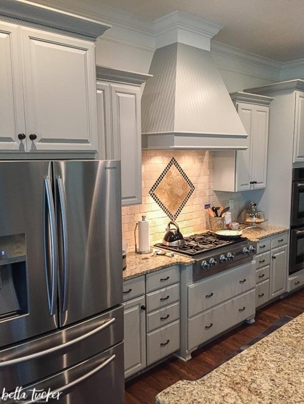 Sherwin Williams Dorian kitchen cabinets