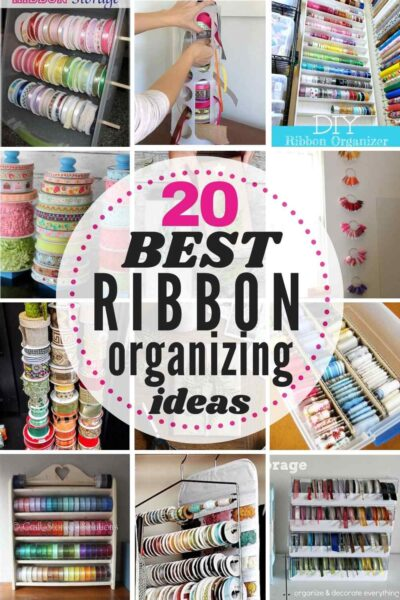 20 BEST Ribbon Storage and Organizing Ideas with 12 examples shown in grid style
