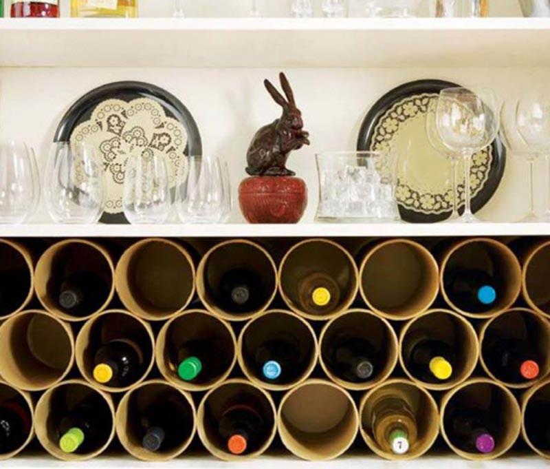 DIY wine storage ideas.