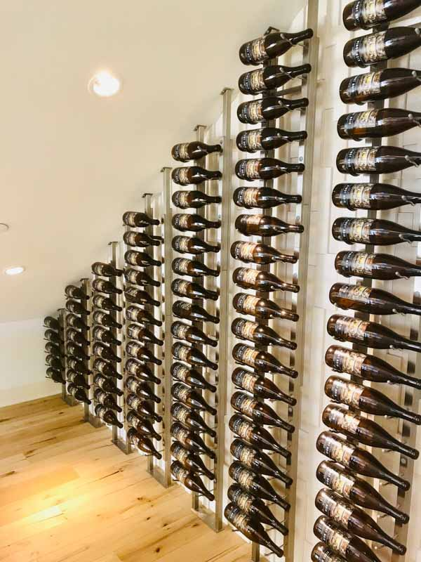 Tips for storing wine underneath a staircase.