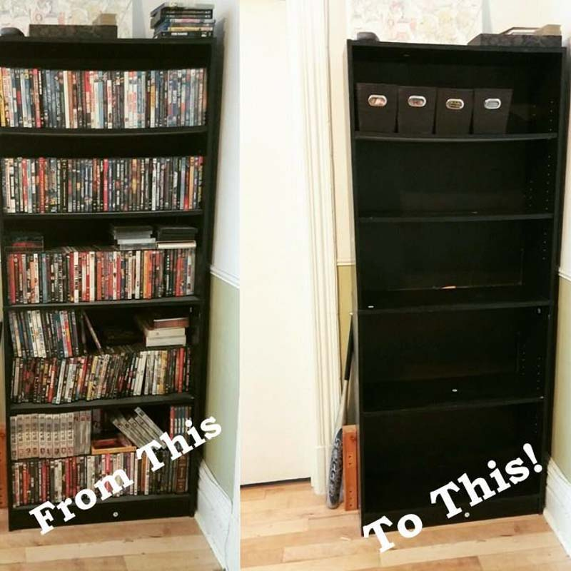 Step by step guide on how to minimize and consolidate large DVD collections.