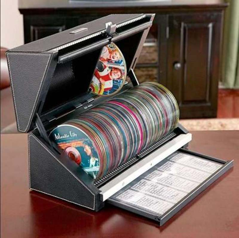 Cool DVD storage box with title index list.