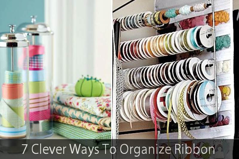 7 clever ways to organize ribbon from Homedit.