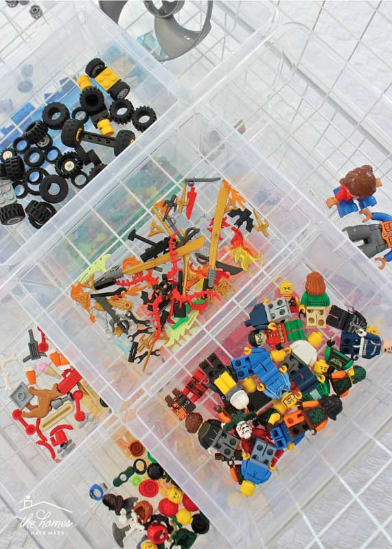 Organizing Legos by color