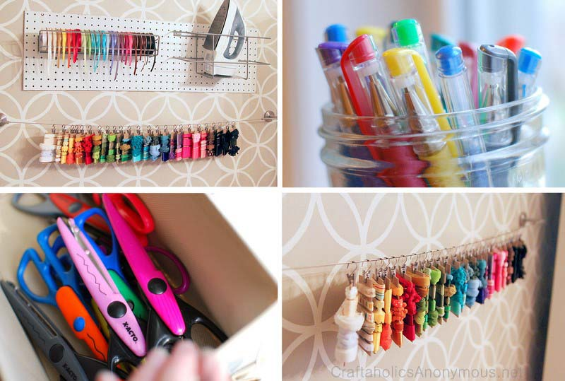 A roundup of ribbon storage ideas from Craftaholics Anonymous.