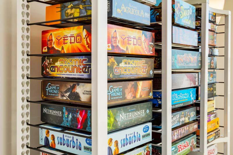 Modular board game storage unit by BoxThrone.