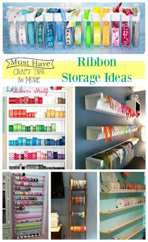 Ribbon storage roundup from The Scrap Shoppe.