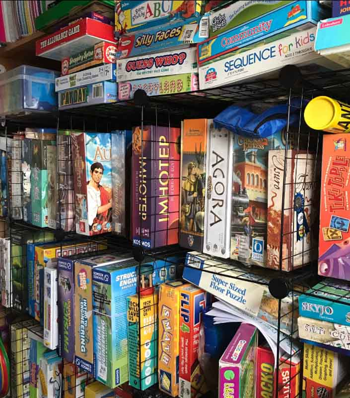 Best practices for storing board games.