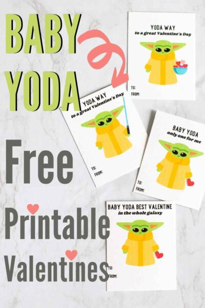 FREE Baby Yoda Valentine Printables