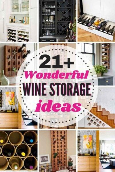 21+ Wonderful WINE STORAGE Ideas for any home