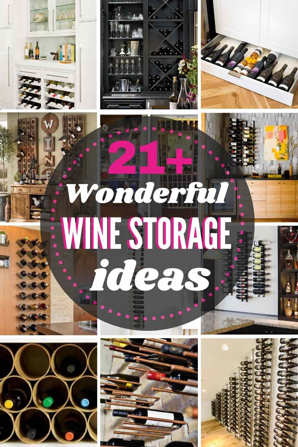 21+ Wonderful WINE STORAGE Ideas for any home