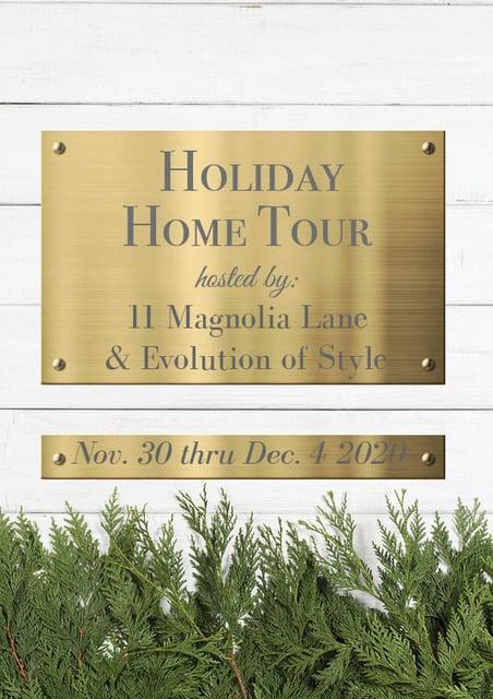 2020 Christmas home tour graphic