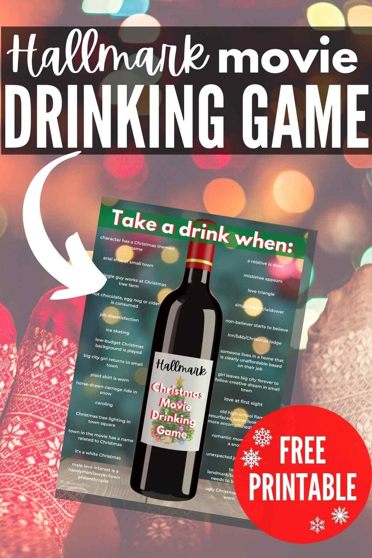 Hallmark movie drinking game free printable game download