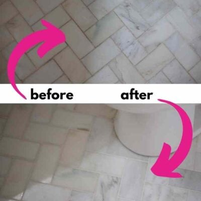 before and after cleaning tile and grout