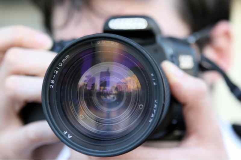 A close up of a camera