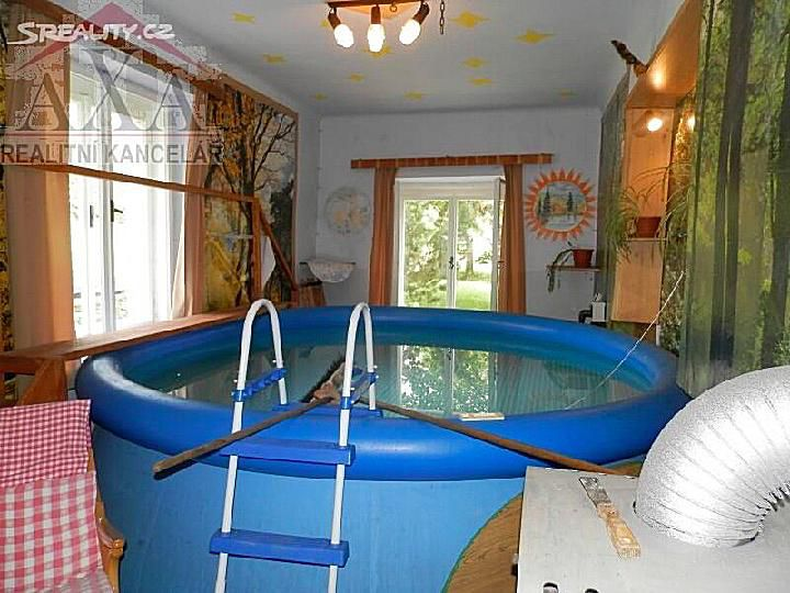 inflatable pool inside a house