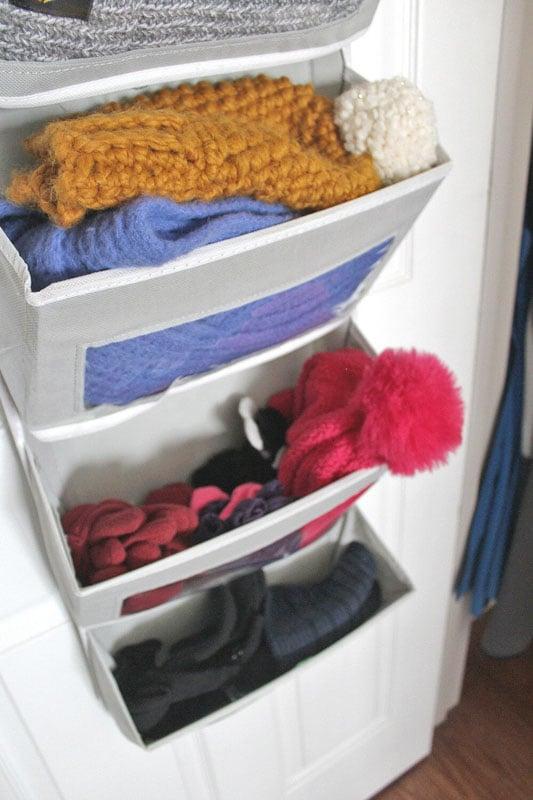 coat closet with over the door rack