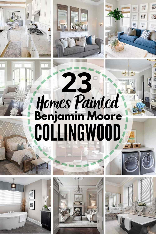 grid image of homes painted in Benjamin Moore Collingwood