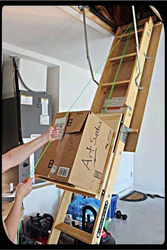 attic dumbwaiter diy idea