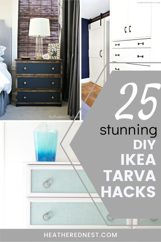 IKEA tarva hacks pin collage with text overlay and 3 images