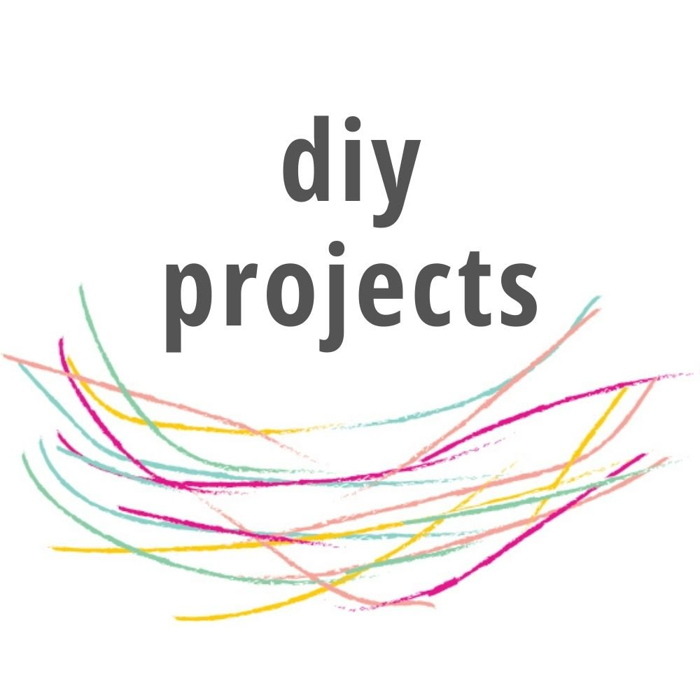 diy projects title in line drawn nest