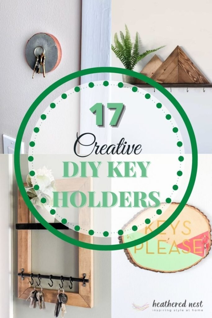 diy key holder ideas collage of four with text overlay