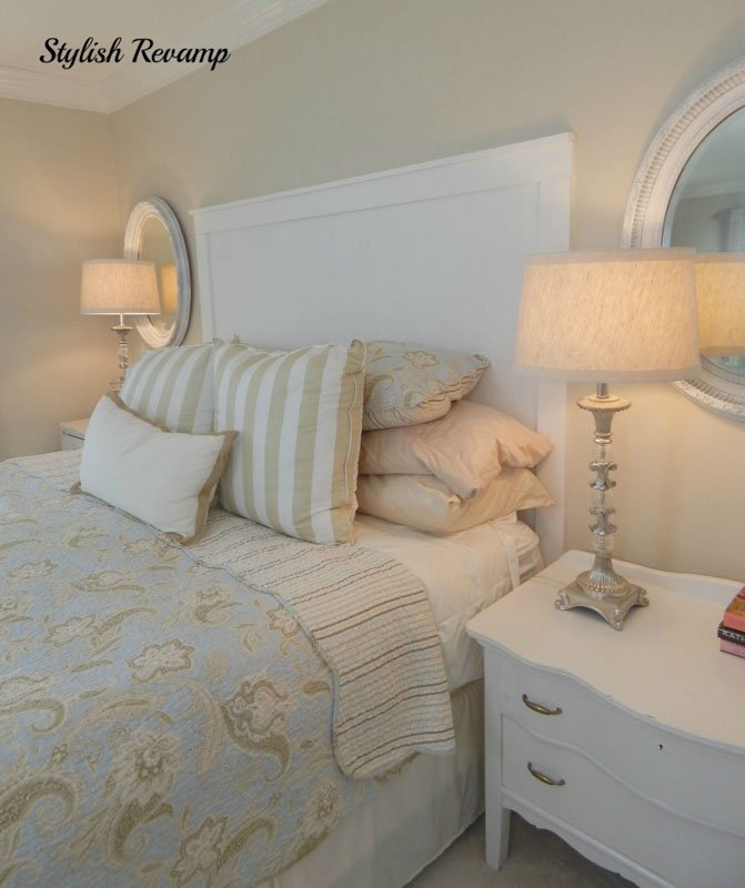 Sherwin Williams City Loft paint on the walls of a warmly lit master bedroom