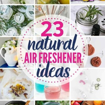 """grid with 15 natural air freshener ideas: """"23 natural air freshener ideas"""""""