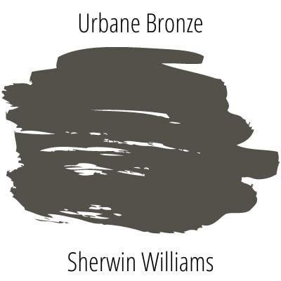 paint swatch Sherwin Williams Urbane Bronze