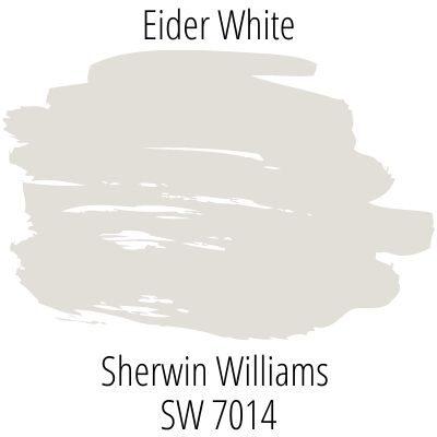 paint swatch of Sherwin Williams Eider White SW 7014