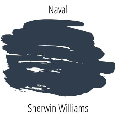 paint swatch of Sherwin Williams Naval